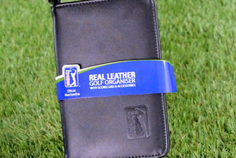 PGA Tour Leather Score Card