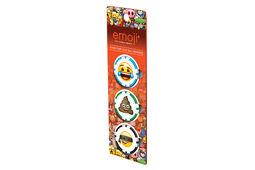 Marchini per palline emoji Poker Chip - Confezione da 3