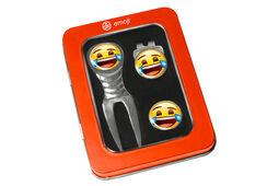 Set di strumenti per la sistemazione delle zolle con emoji che ride