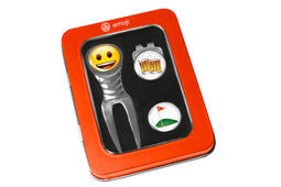 Set di strumenti per la sistemazione delle zolle con emoji birra e golf