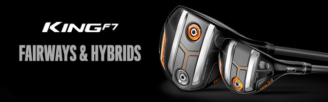 Cobra Golf King F7 Fairways and Hybrids